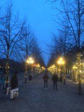 Prettily lit streets...