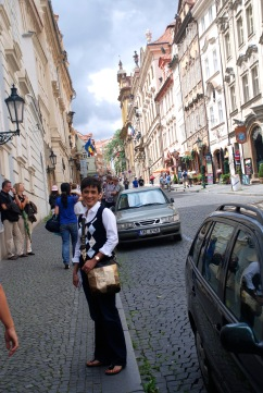 walk up to Prague castle.