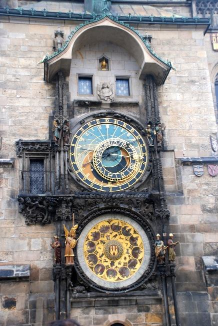 The Astronomical clock in the old town square.