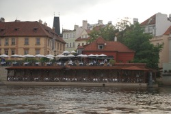 Kampa park Restaurant from the opposite side of the bridge.