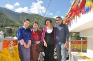 With friends in Thimpu.