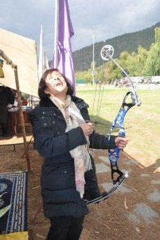 Trying my had at Archery :)