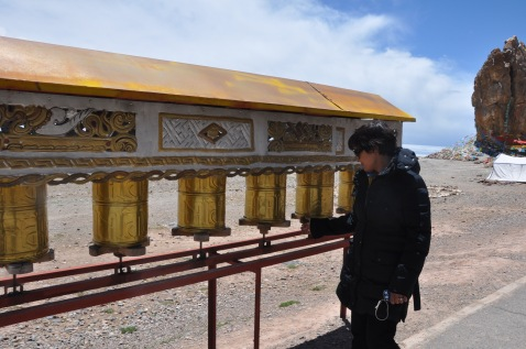 Prayer wheels. I said me prayers everywhere I went in tibet :)