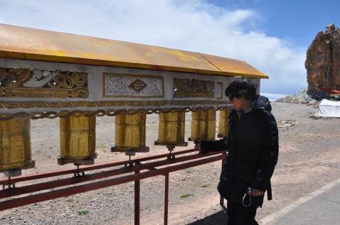 Prayer wheels. I said me prayers everywhere I went in tibet :)