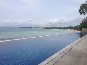 The Sundara pool Overlooking Jimbaran Bay
