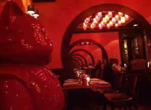 Restaurant interiors.